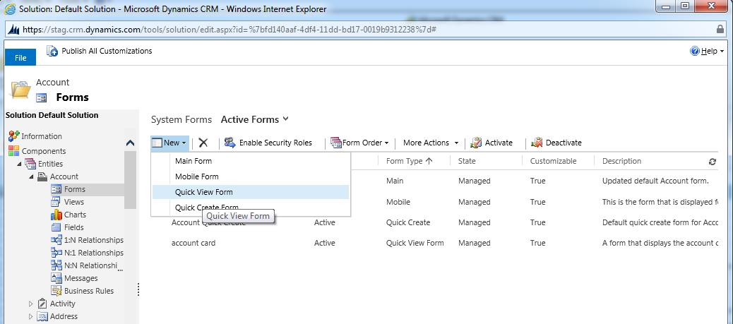 Quick View Forms in Dynamics CRM 2013 – Microsoft Dynamics CRM Blog